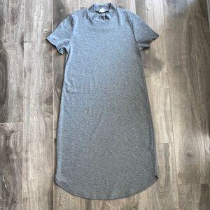 Women's Garage grey ribbed T-shirt dress